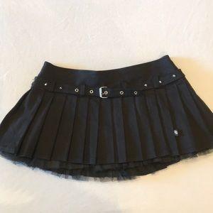 Royal Bones By Daang Goth Black Micro Mini Skirt M